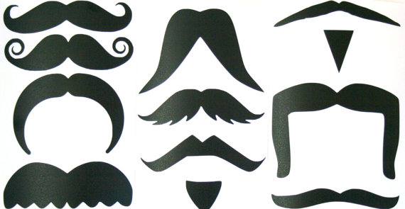 Walrus mustache clipart