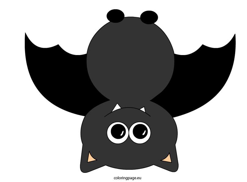 Bat animal coloring page