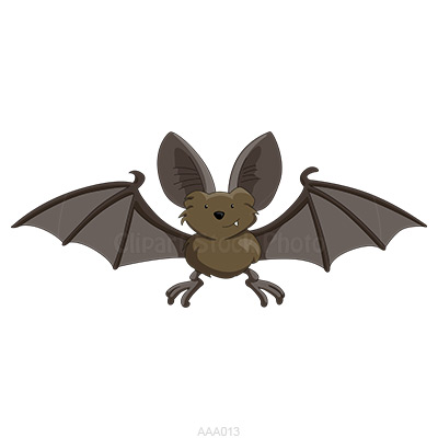 Cartoon bat clipart royalty free grey halloween bat stock image