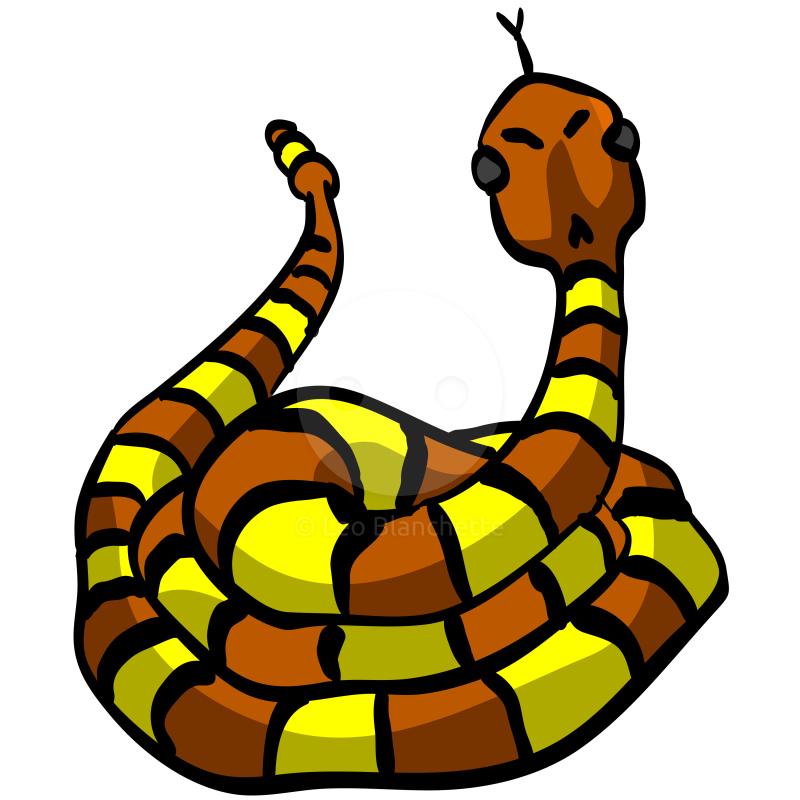 Cute snake clip art illustration illustrations by leo