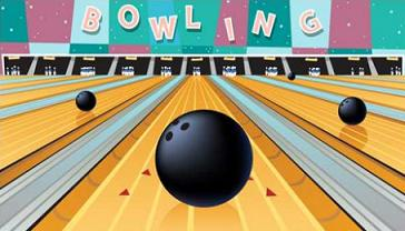 Free bowling lanes clipart