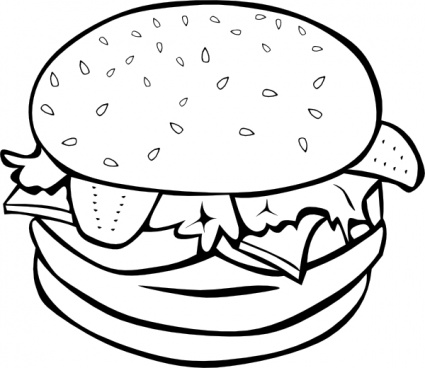 Hamburger clip art clipart