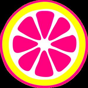 Hot pink lemon slice clip art at vector clip art