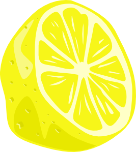 Lemon half clip art at vector clip art online