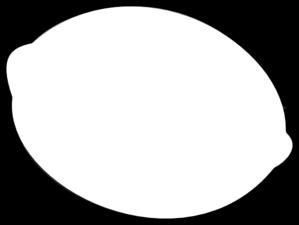 Lemon outline clip art at vector clip art online