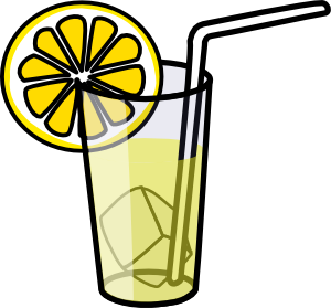 Lemonade glass clip art at vector clip art online