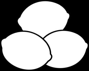 Three white lemons clip art at vector clip art online