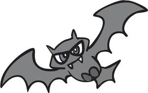 Vampire bat clipart image clip art illustration of a vampire bat