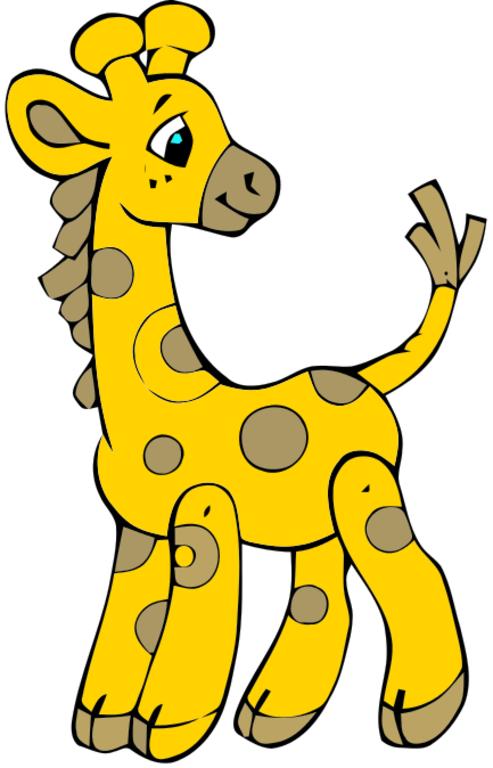 Baby giraffe clip art clipart