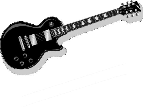 Black guitar clip art at vector clip art online