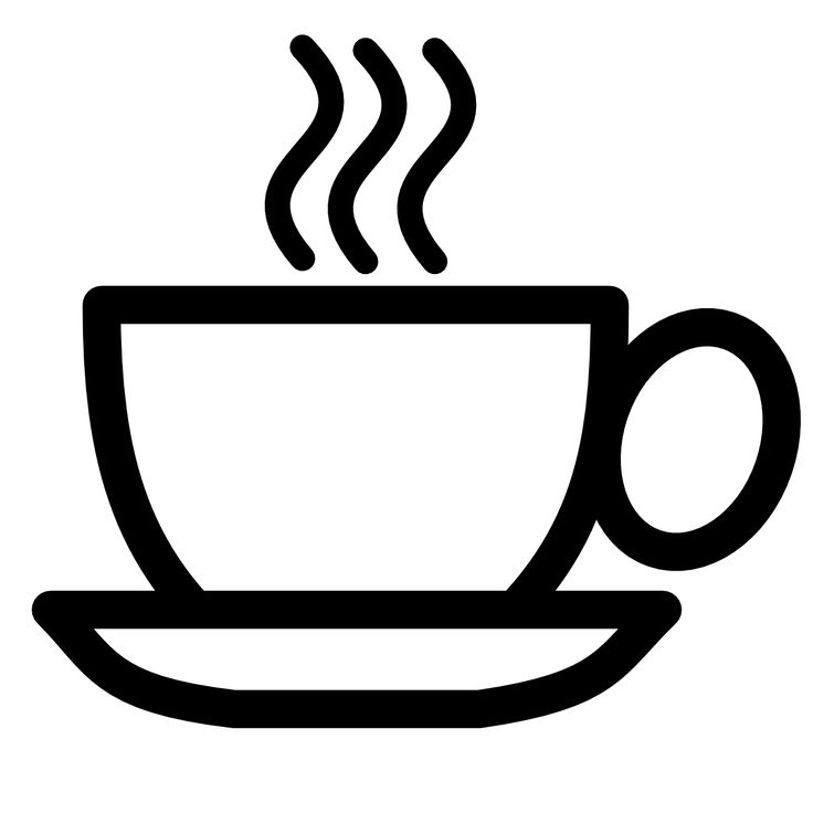 Coffee clipart black and white hotel coffee