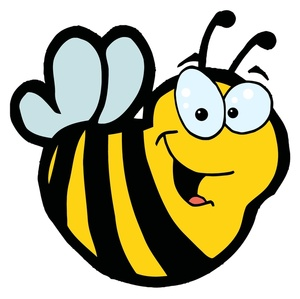 Flower bee clip art clipart