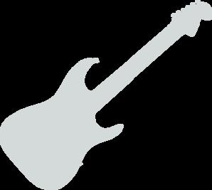 Grey guitar clip art at vector clip art online