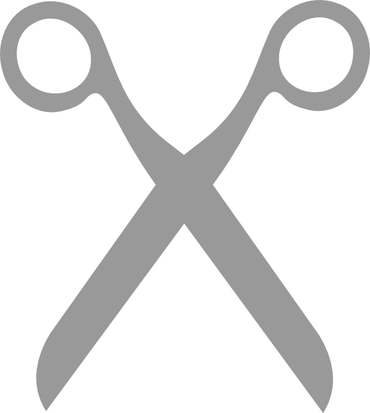 Grey scissors clip art vector clip art online royalty free