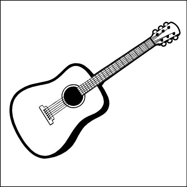 Guitar clip art border black and white clipart
