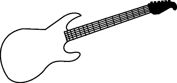 Guitar clip art out line clipart