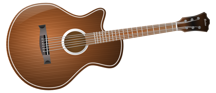 Guitar profile philippe clipart vector clip art online
