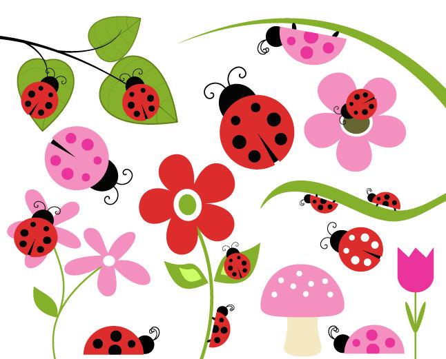 Ladybug cliparts