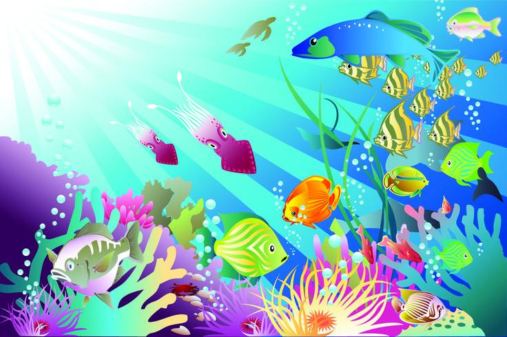 Ocean clip art free pack of underwater vectors free