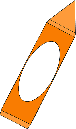 Big orange crayon clip art big orange crayon image