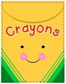 Cheerful crayons clipart freebie follow for free too