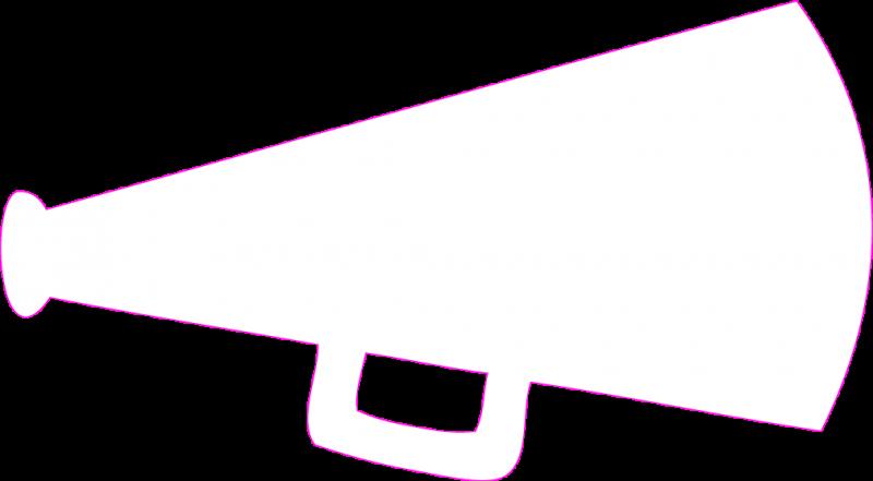 Cheerleading megaphone clipart