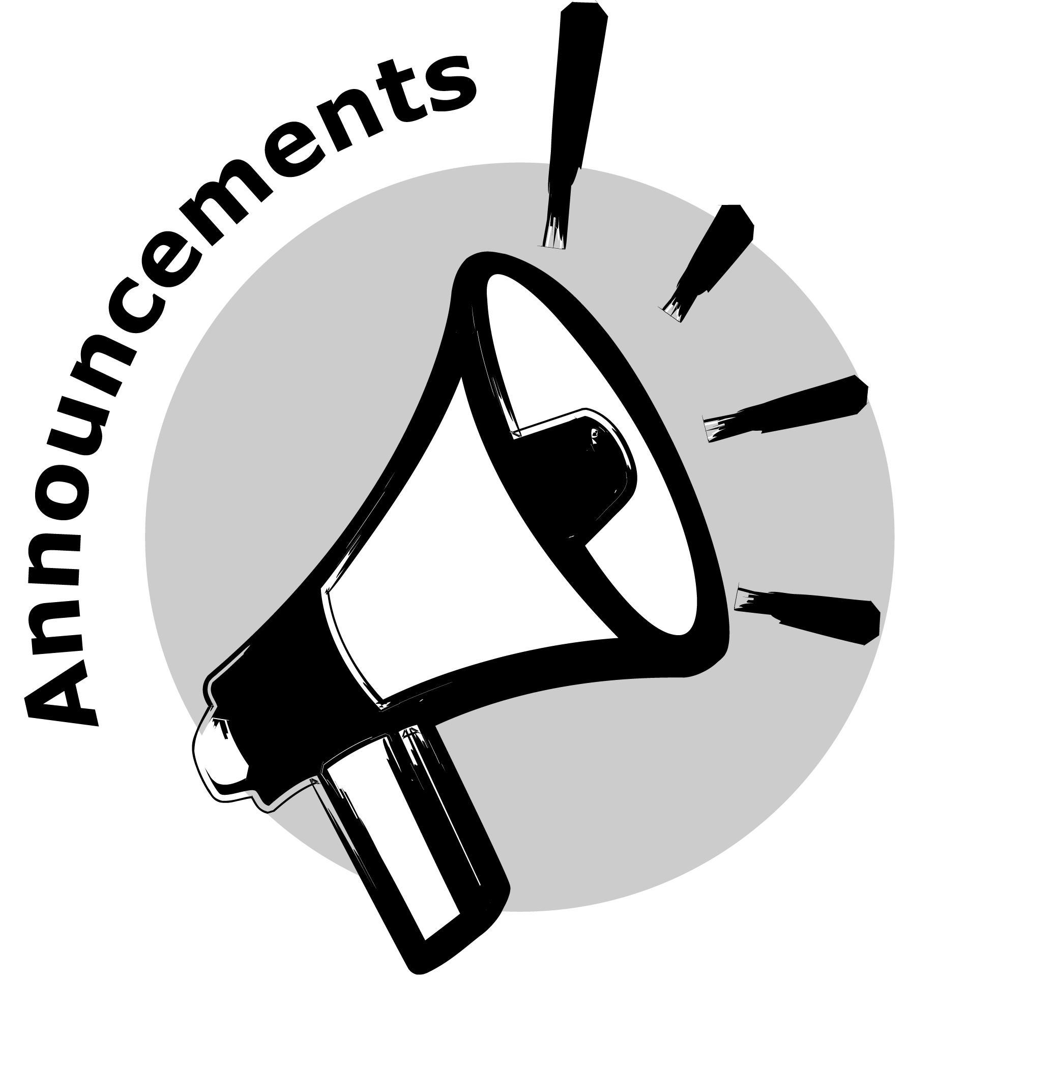 Megaphone announcements clip art clipart