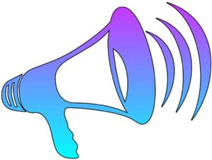 Megaphone cutout clip art at vector clip art online