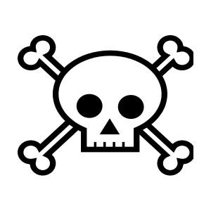 Skull corssbones clipart
