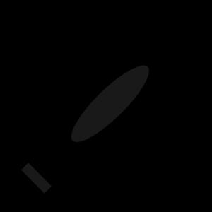 Totetude black crayon clip art at vector clip art