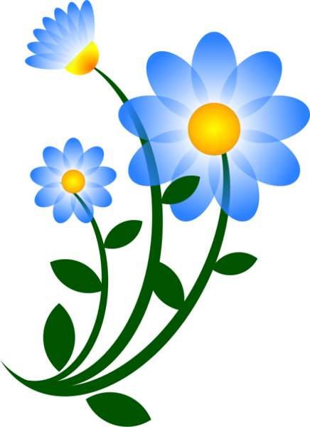 Blue daisy flower clipart free clip art images