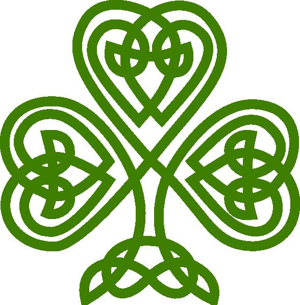 Celtic shamrock clip art at vector clip art online