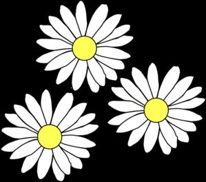 Daisy 3 daisies clip art at vector clip art online royalty