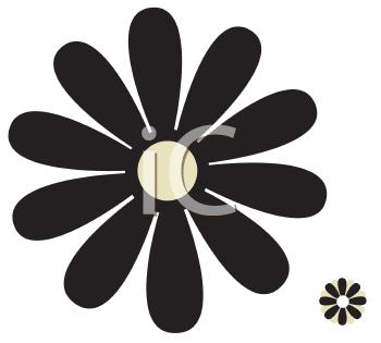 Daisy flower clip art image #9081