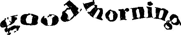 Good morning font clip art at vector clip art online