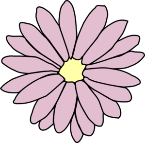 Pink daisy clip art at vector clip art online royalty