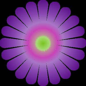 Purple daisy clip art at vector clip art online