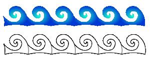 Waves clip art download 2