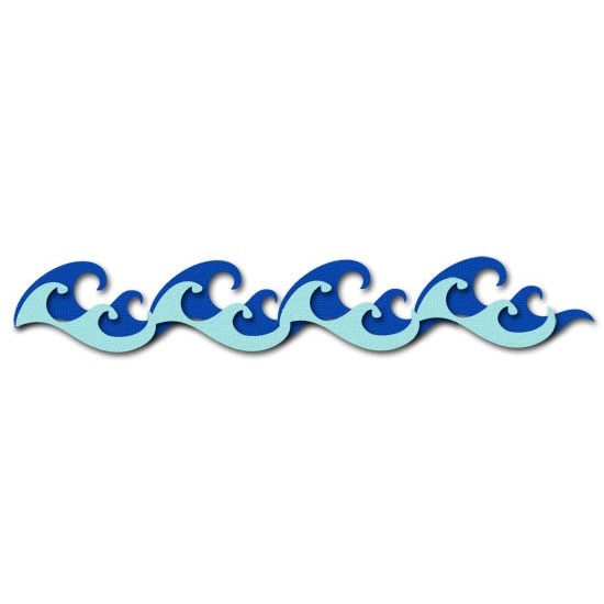 Waves wave border clipart