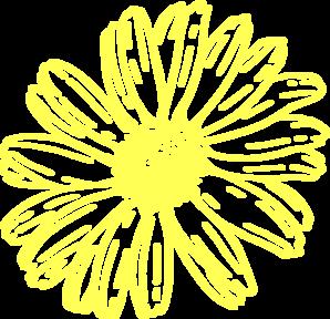 Yellow daisy clip art at vector clip art online