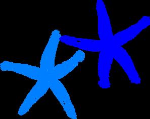 Blue starfish clip art at vector clip art online 2