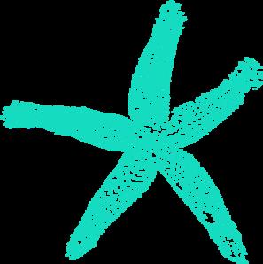Blue starfish clip art at vector clip art online