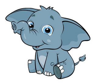 Cute elephant clip art clipart