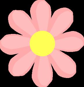 Cute flower pink clip art at vector clip art online