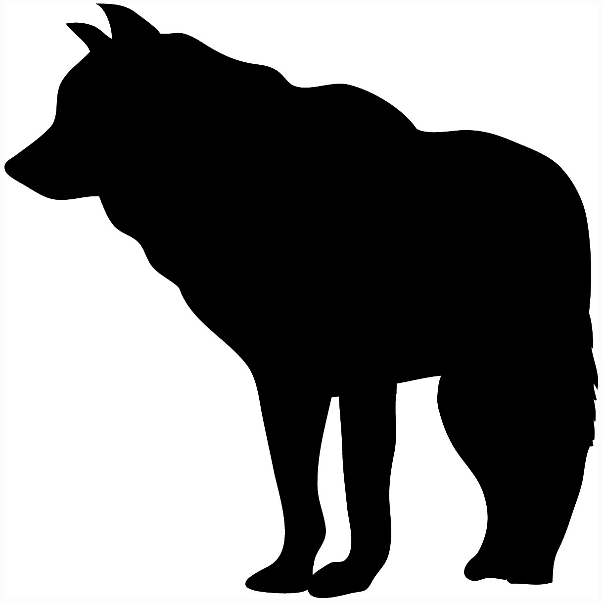Silhouette wolf clipart