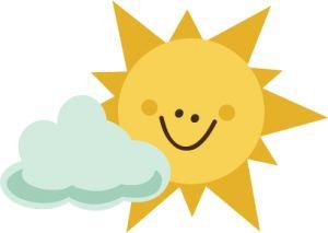 Sunshine sol lua nuvens on clip art sun and cloud