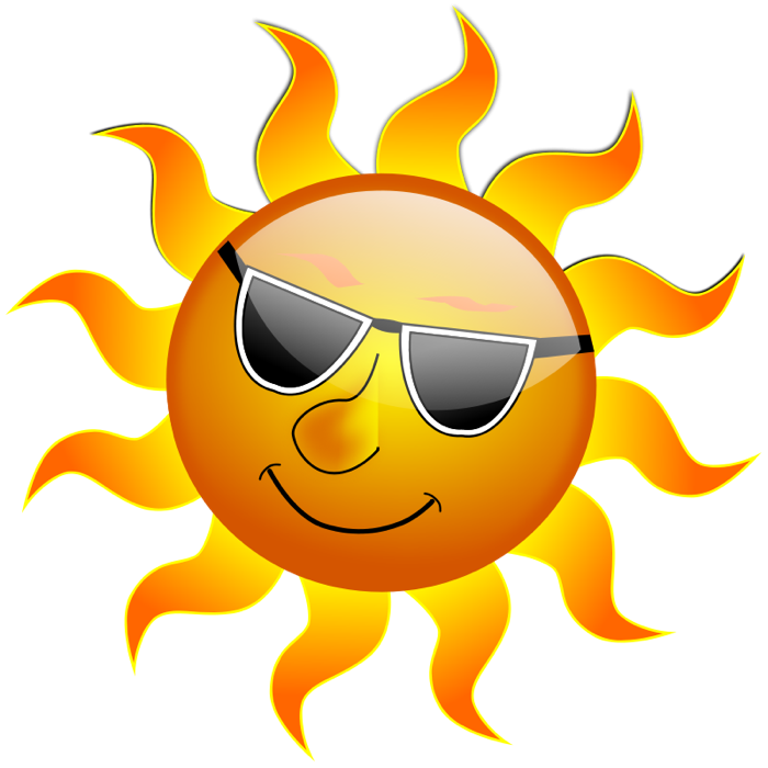 Sunshine sun clipart graphics of suns