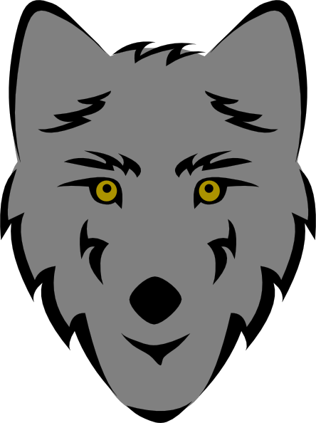 Wolf head stylized clip art free vector clipart clipart