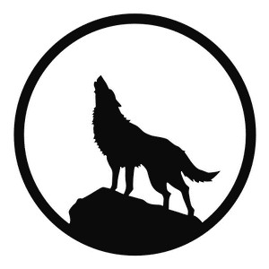 Wolf howling clipart