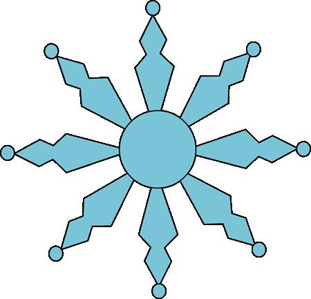 Blue snowflake clip art blue snowflake image